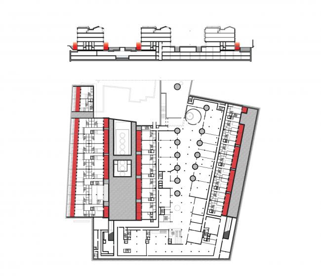 Многофункциональная комплексная застройка на Софийской набережной. Открытые частные террасы © Сергей Скуратов ARCHITECTS