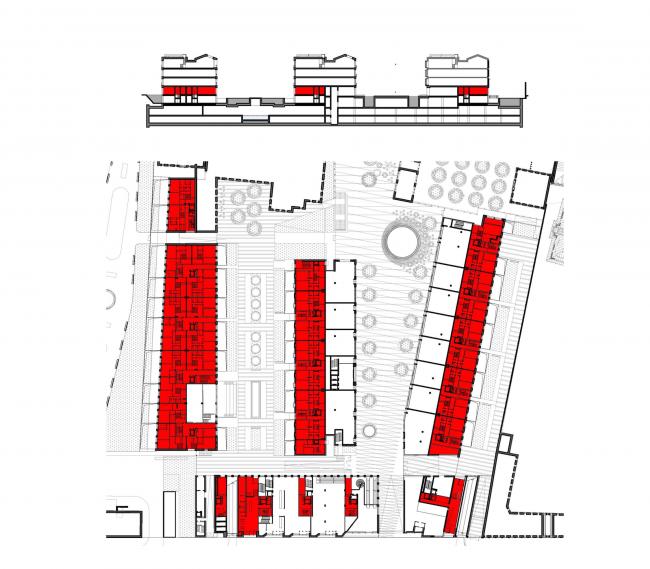 Многофункциональная комплексная застройка на Софийской набережной. Жилье 1 этажа © Сергей Скуратов ARCHITECTS