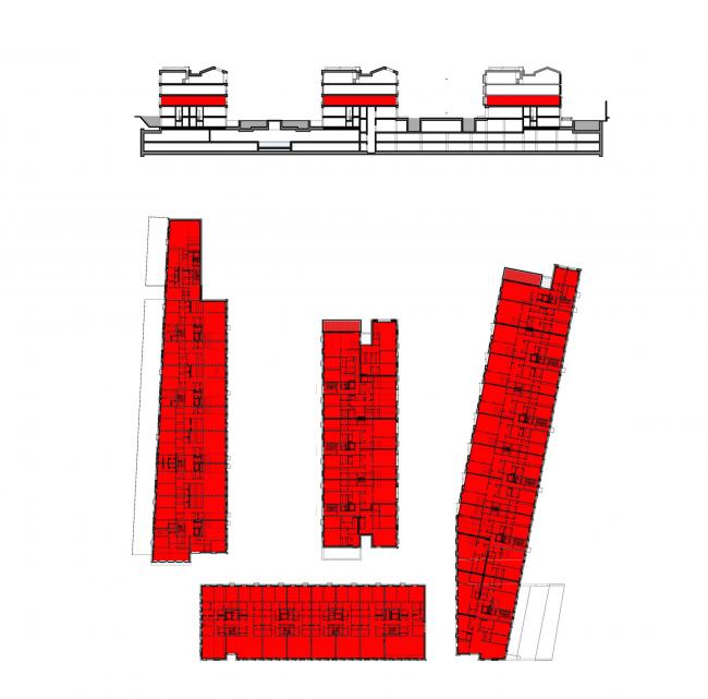 Многофункциональная комплексная застройка на Софийской набережной. Жилье 2 этажа © Сергей Скуратов ARCHITECTS
