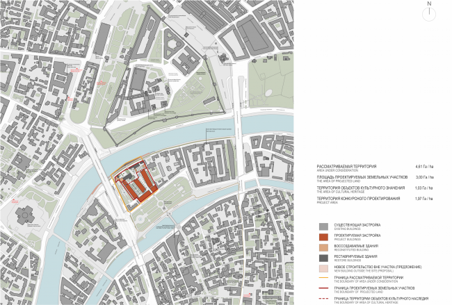 Многофункциональная комплексная застройка на Софийской набережной. Ситуационный план © Сергей Скуратов ARCHITECTS