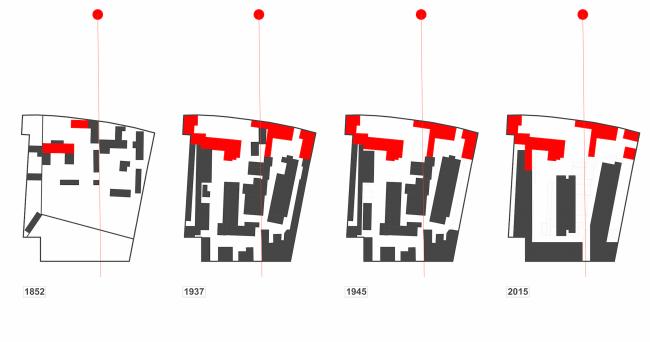 Многофункциональная комплексная застройка на Софийской набережной. Этапы развития и трансформации планировочной структуры © Сергей Скуратов ARCHITECTS