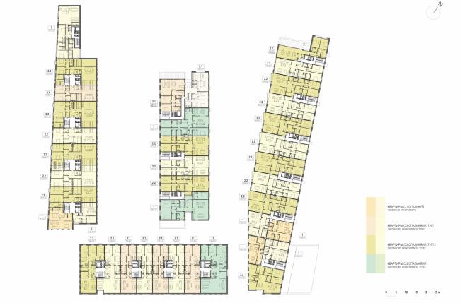 Multifunctional integrated development of the Sofiyskaya Embankment. Plan of the 2nd floor © Sergey Skuratov ARCHITECTS
