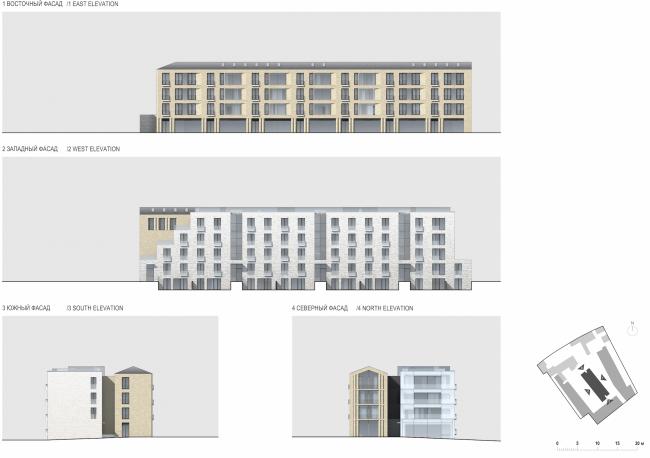 Многофункциональная комплексная застройка на Софийской набережной. Фасады © Сергей Скуратов ARCHITECTS
