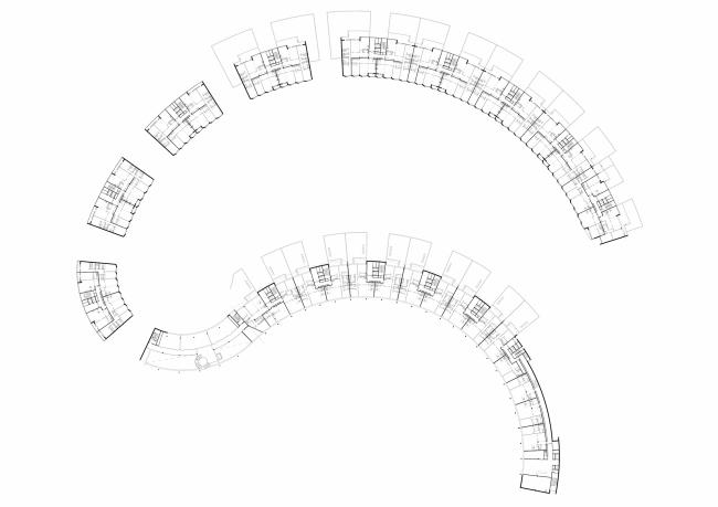 """Skolkovo-Park"". Plan of the second floor © Creative Union ""Reserve"""