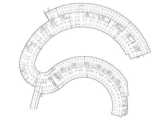 """""""Skolkovo-Park"""". Plan of the underground parking garage © Creative Union """"Reserve"""""""