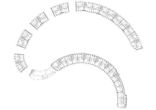 """Skolkovo-Park"". Plan of the typical floor © Creative Union ""Reserve"""