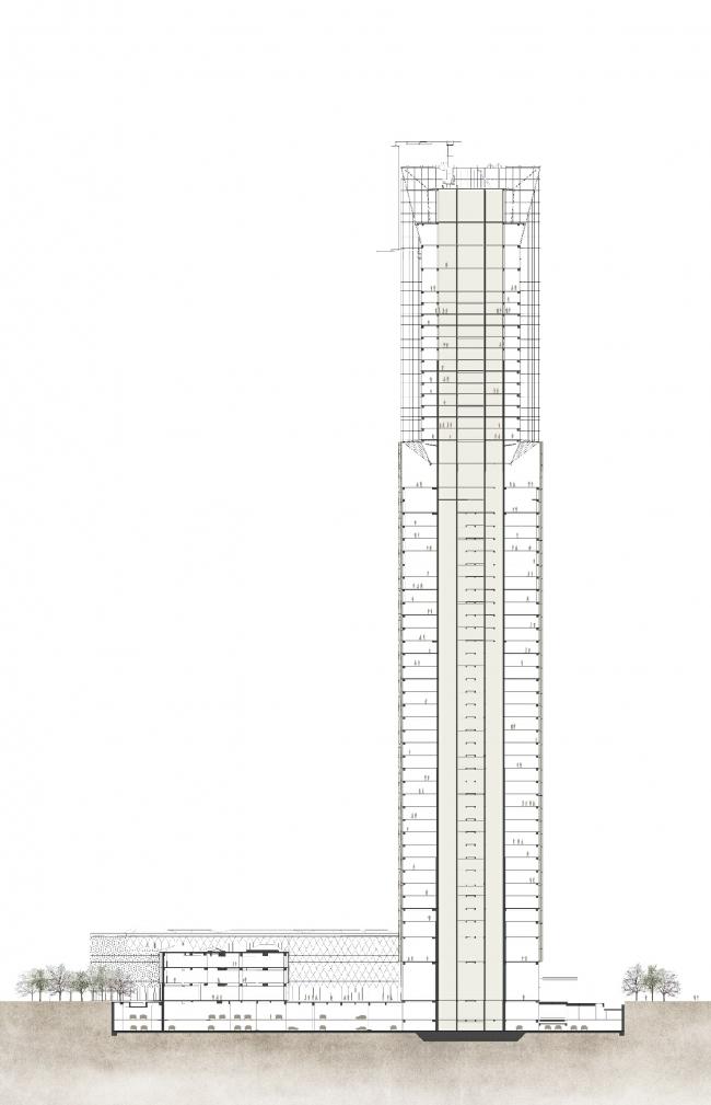 Башня Jiangxi Greenland Zifeng Tower © Skidmore, Owings & Merrill