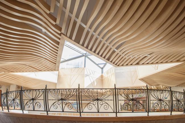 The ceiling in the Ceremonial Hall in the synagogue on Bolshaya Bronnaya Street © Sergey Estrin architectural studio