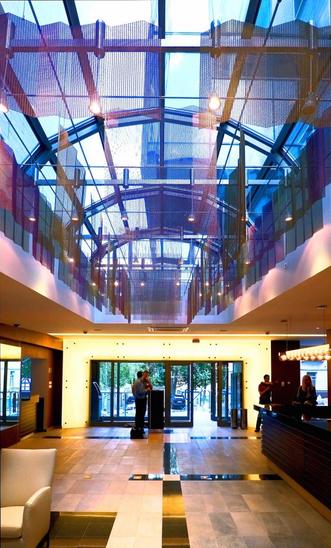 The entrance area of World Class club on Klimashkina Street © Sergey Estrin architectural studio