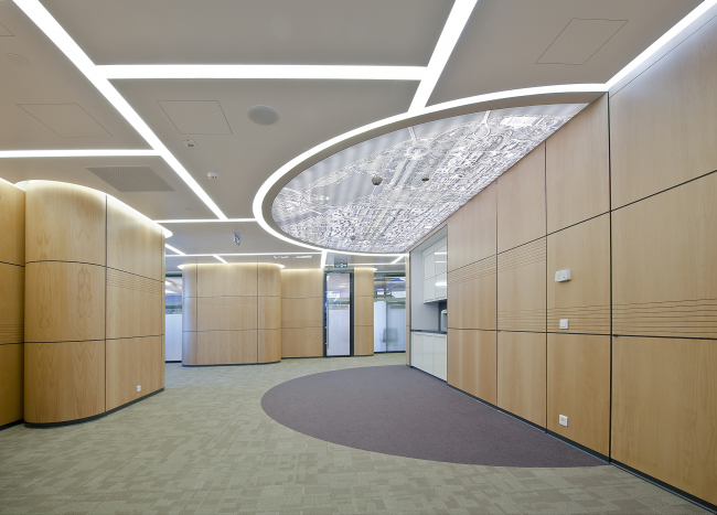 Fragment of the interior of the Moscow Office of Baker & McKenzie © Sergey Estrin architectural studio