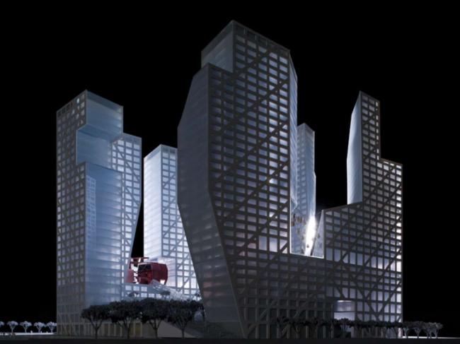 Комплекс «Квартал слоистой пористости» © Steven Holl Architects