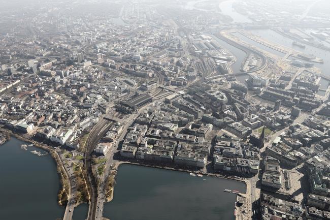Проект озеленения городских крыш в Гамбурге (до) © Mathias Friedel; Minitstry of Environment and Energy, BUE Hamburg