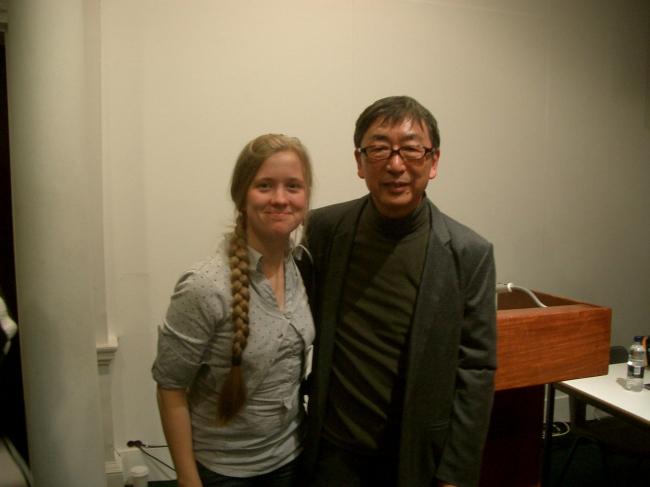 Лекция Тойо Ито в АА (японский архитектор с автором этой статьи).