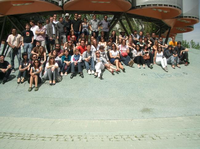 Учебная поездка в Мадрид, факультет SED и студенты Мадридского политехнического университета. 2010 год.