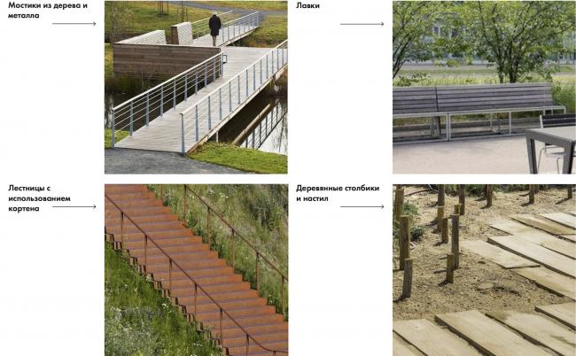Парк «Кузьминки». Элементы благоустройства. Аналоги © Alphabet city