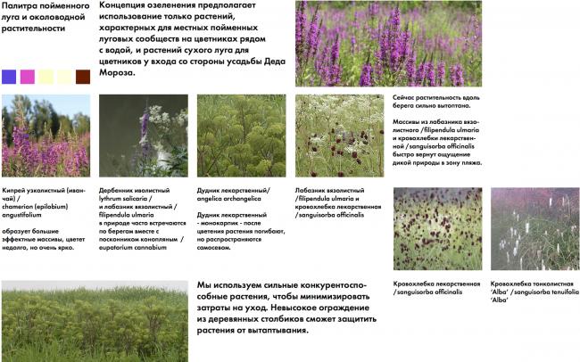 Парк «Кузьминки». Концепция озеленения © Alphabet city