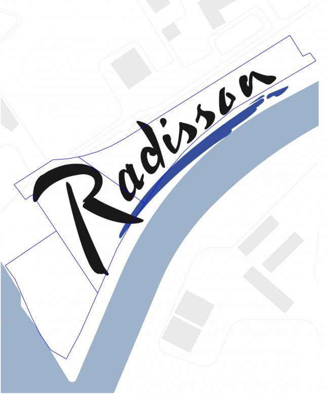 The concept of the hotel complex Radisson Blu Moscow Riverside. Concept © 4izmerenie
