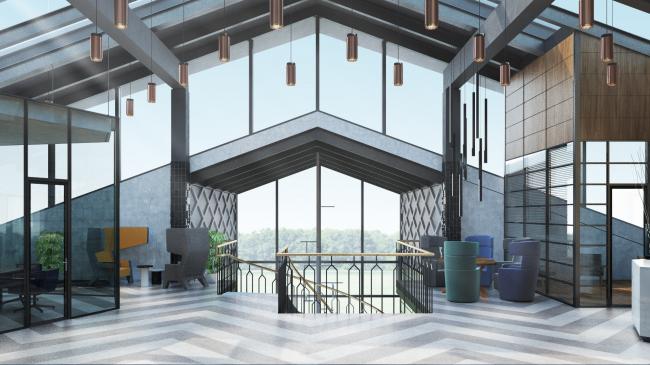 Интерьеры для штаб-квартиры воронежского научно-производственного объединения © PANACOM