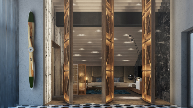 Interiors of the headquarter of the Voronezh research and production company © PANACOM