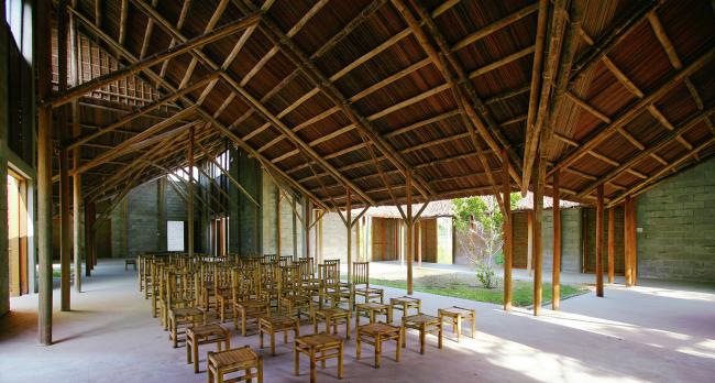 Общинный дом Кэм Тхань (Вьетнам). 1+1>2 International Architecture JSC. Изображение предоставлено WAF