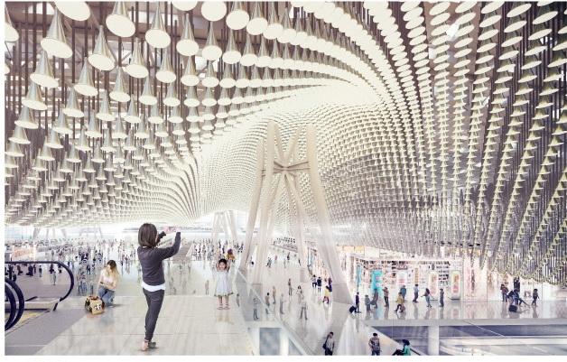 Комплекс 3-го терминала Таоюаньского международного аэропорта. Изображение с сайта www.t3.com.tw