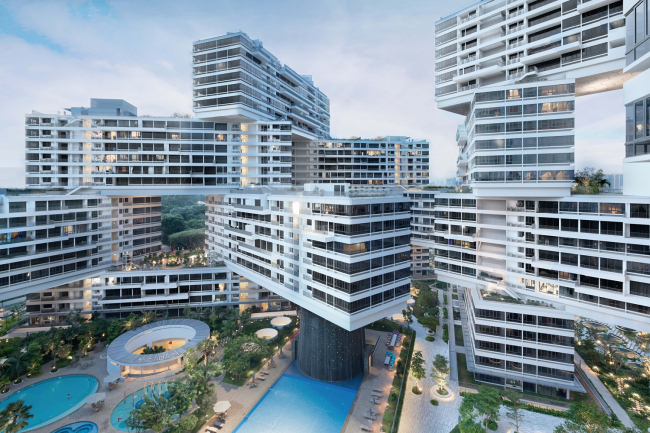 Жилой массив Interlace (Сингапур).  OMA / Оле Шерен. Изображение предоставлено WAF