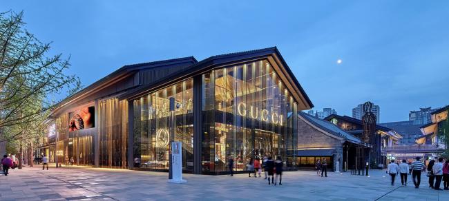 Торговый центр Sino-Ocean Taikoo Li Chengdu (Китай). The Oval Partnership. Изображение предоставлено WAF