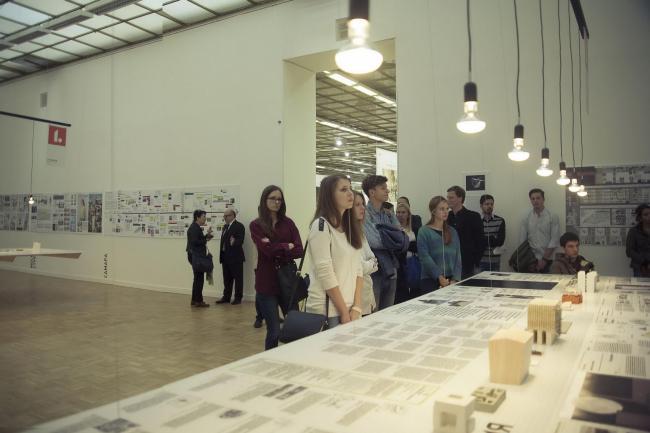Экспозиция проекта «Исследование» на фестивале «Зодчество»-2015 © Анна Берг