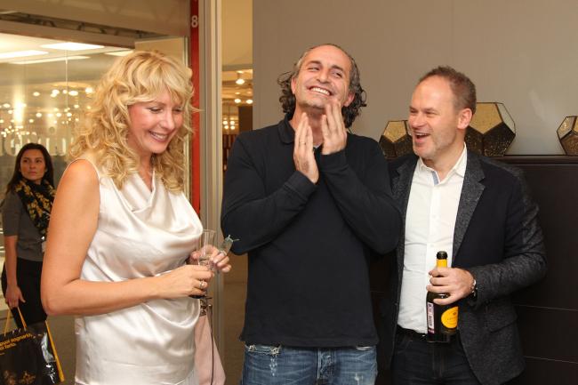 Елена Архипова (АРХИСТУДИЯ), Велимир Гашич (арх), Сергей Гвоздев (АРХИСТУДИЯ). Фото предоставлено компанией Архистудия