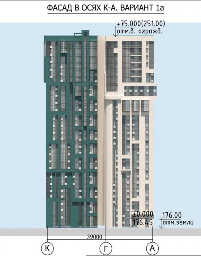 Жилой дом с подземной парковкой, магазином, ДОУ и школой на Барвихинской улице. Проектная организация: «Аймекс-Групп». Заказчик: «Элит-Строй»
