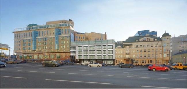 Административно-деловое здание в Мясницком проезде. Второй вариант. Проектная организация: «ЭПИ Моспроект-5». Заказчик: «Вектор»