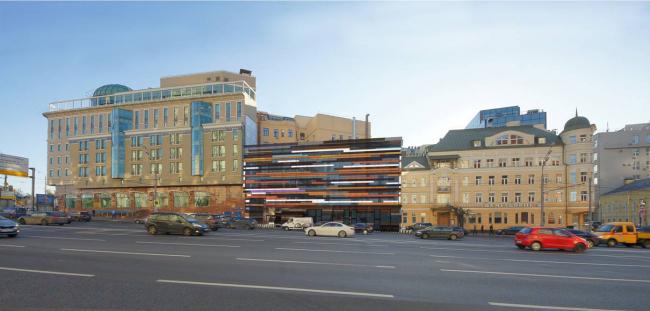 Административно-деловое здание в Мясницком проезде. Четвертый вариант. Проектная организация: «ЭПИ Моспроект-5». Заказчик: «Вектор»
