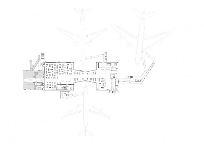 Пирс C Аэропорта Копенгагена – Каструп © schmidt hammer lassen architects