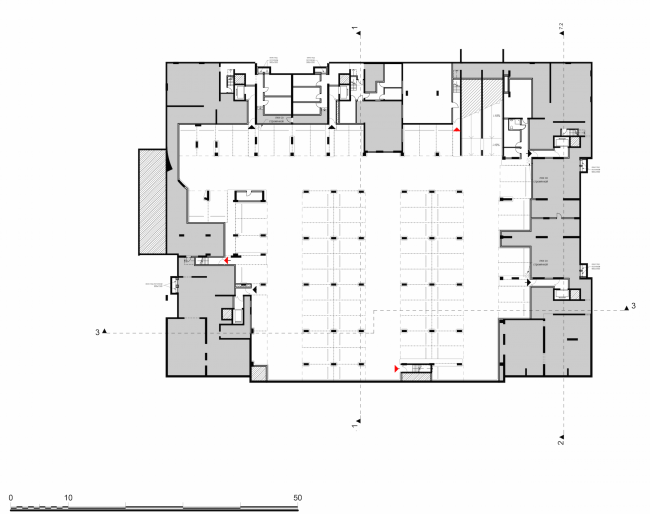 Residential complex in the proximity of the Nagatinsky Creek. Plan of the basement floor © Ostozhenka