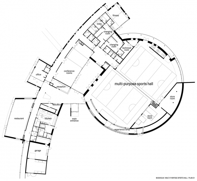 Спортивно-рекреационный центр Musholm © AART architects