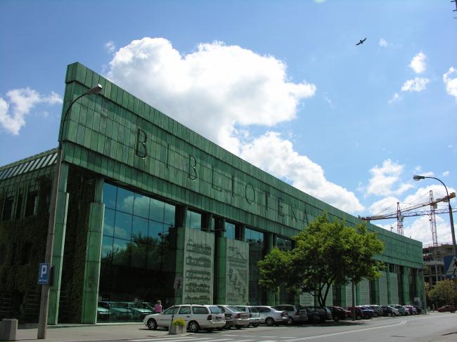 """Библиотека Варшавского университета. Постройка, 2000. Фотография © Архитектурная мастерская """"Budzynski & Badowski"""""""