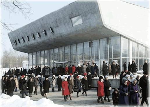 Кинотеатр «Варшава» на площади Ганецкого в Войковском районе. Исторический облик здания. Фотографии предоставлены организаторами конкурса на проект реновации двух московских кинотеатров