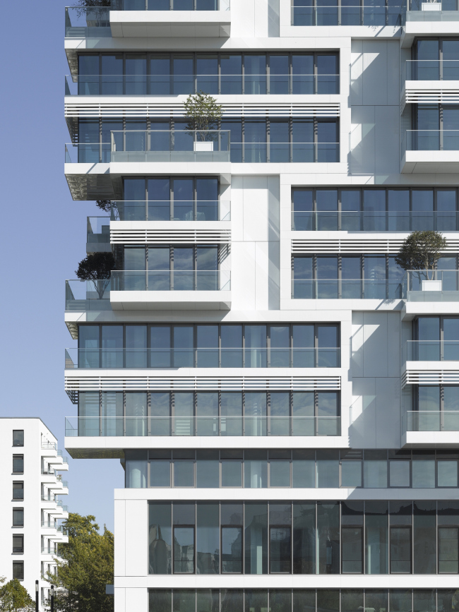 "Residential building ""Living Levels"" – East Side Tower. Photo © Roland Halbe"