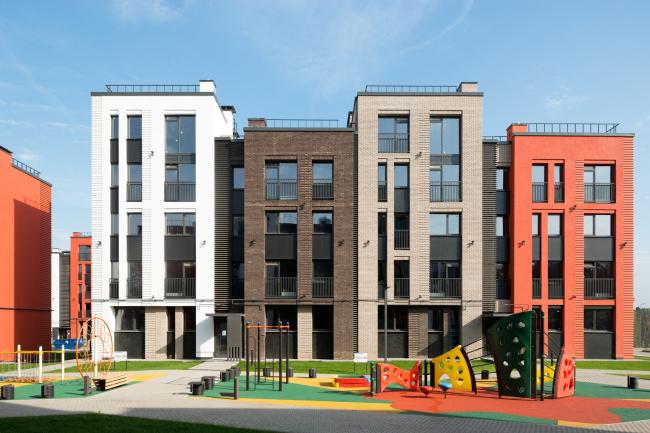 """Dutch Quarter"" residential complex in Ivanteevka. Construction, 2015 © UNK project"