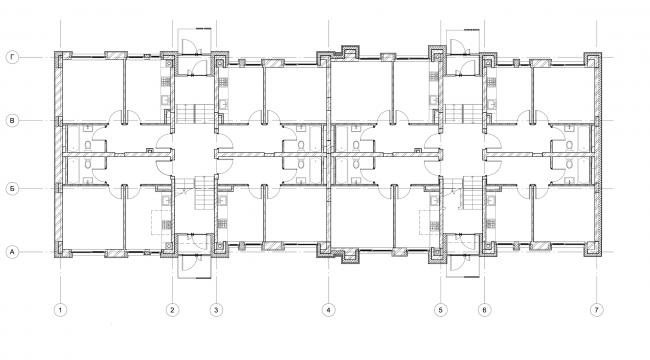 Жилой комплекс «Голландский квартал» в Ивантеевке. Дом 1, план 1 этажа. Постройка, 2015 © UNK project