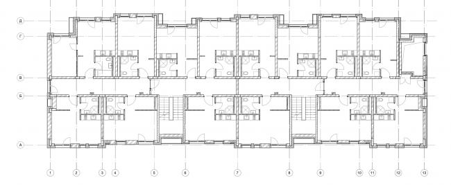 Жилой комплекс «Голландский квартал» в Ивантеевке. Дом 2, план 2 этажа. Постройка, 2015 © UNK project