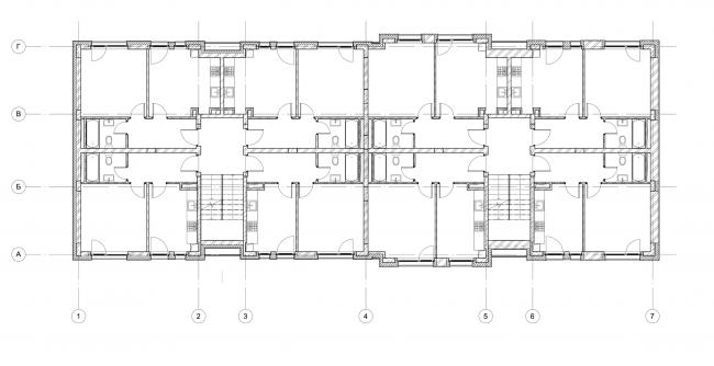 Жилой комплекс «Голландский квартал» в Ивантеевке. Дом 3, план 2 этажа. Постройка, 2015 © UNK project
