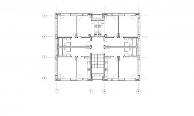 Жилой комплекс «Голландский квартал» в Ивантеевке. Дом 4, план 2 этажа. Постройка, 2015 © UNK project