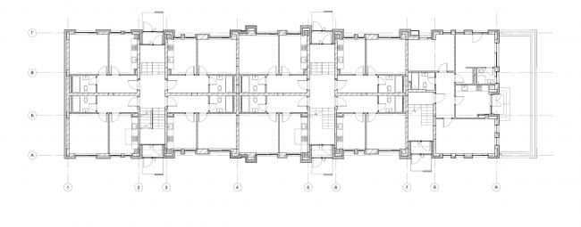 Жилой комплекс «Голландский квартал» в Ивантеевке. Дом 5, план 2 этажа. Постройка, 2015 © UNK project