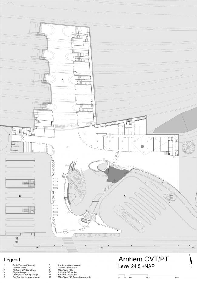Терминал Центрального вокзала Арнема © UNStudio