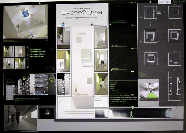 Третья премия. Пургина Ульяна, Арзамасова Юлия (Челябинск). Проект «Пустой дом. Галерея современного искусства»