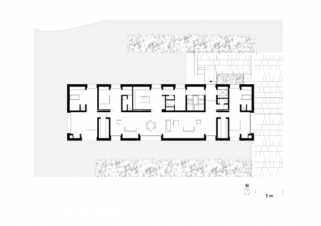 Комплекс жилых построек в водном парке Сиси © David Chipperfield Architects