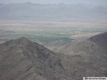 Вид на будущее местоположение города из Кабула