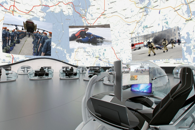The concept of National Crisis Management Center of EMERCOM of Russia © Arch group