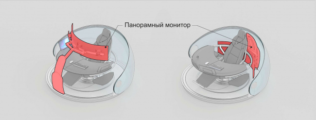 The concept of National Crisis Management Center of EMERCOM of Russia. Model of the workplace © Arch group
